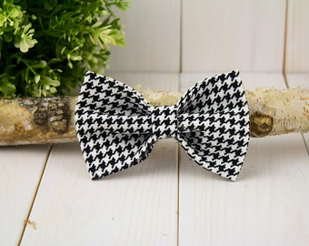 Houndstooth Dog Bow Tie// Pet Bow Tie
