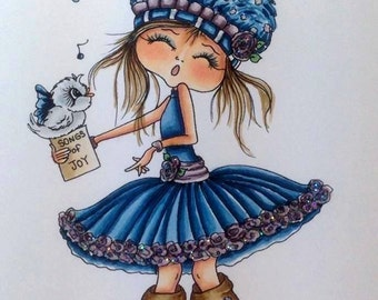 INSTANT DOWNLOAD Digital Digi Stamps Big Eye Big Head Dolls Digi   Besties img460  By Sherri Baldy