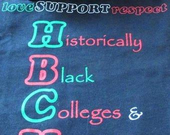 Love Support Respect HBCUs T-Shirt