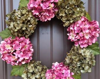 READY TO SHIP!  Hydrangea Wreath