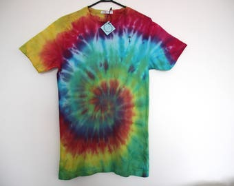 Rainbow Palm Tree Dyed Tee