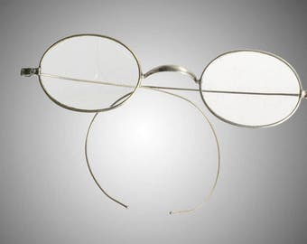 Antique nickel on brass eyeglasses spectacles