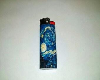 Custom Van Gogh Starry Night Lighter