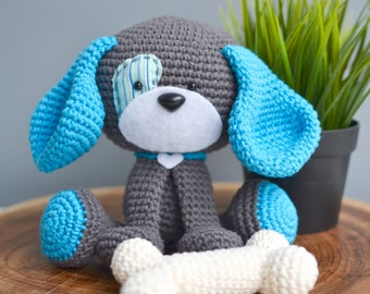 Cute Dog Crochet Pattern. Domino The Dog Amigurumi Crochet Pattern. Downloadable PDF Crochet Pattern. English/Dutch Dog Crochet Pattern