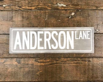Personalized Kids Gifts, Kids Name Sign Wood, Kids Signs For Room, Street Sign, Custom Street Sign, Wooden Kid Sign