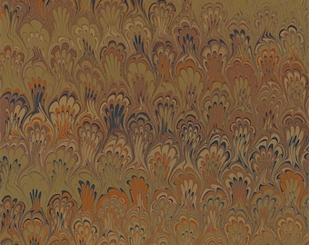Hand Marbled Paper 19x24 (Thinking Fall)