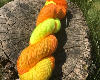 Dance to your own tune - merino nylon HT high twist yarn 4ply sock hand dyed skein