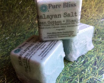 Himalayan Salt Bar, Spa Soap, Salt Soap, Pink Salt Soap, Aqua Soap, Spa Gift For Mom, Spa Scent