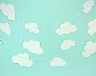White Clouds Paper Garland
