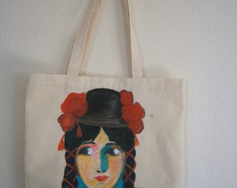 """Latina"" linen canvas tote bag"