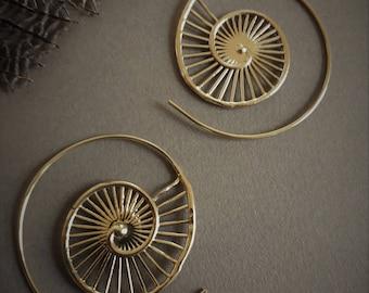 earrings *nautilus* in brass