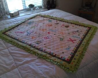 Toddler's Alphabet Quilt