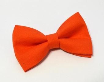 Orange Bow Tie, baby bow tie, boys bow tie ,adult bow tie,groomsmen bow tie, men's bow tie
