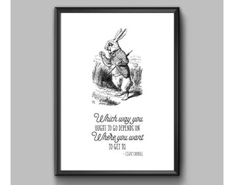 Digital Print – Alice In Wonderland – Which Way You Ought To Go