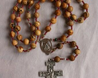 Catholic Rosary San Damiano Crucifix, St. Francis Crucifix