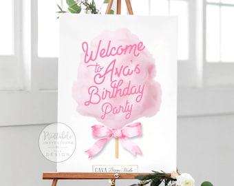 Birthday Welcome Sign, Custom Welcom Sign, Carnival Birthday Welcome Sign, Circus Birthday Party