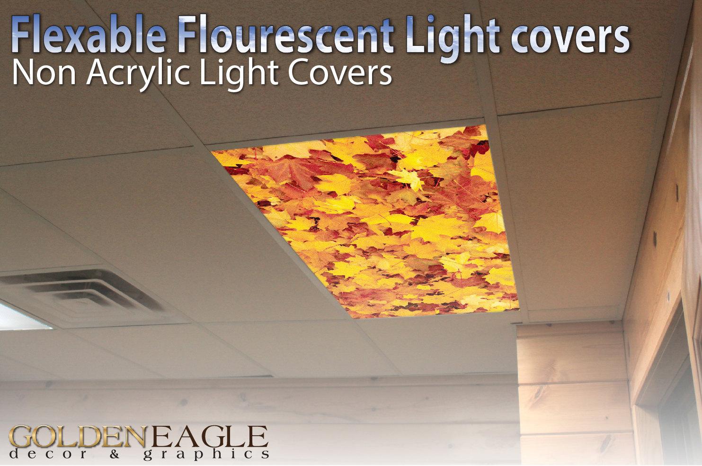 Flexible Fluorescent Light Cover Films Skylight Ceiling Office