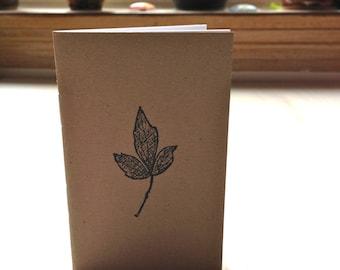 Pequeño diario: Tierra, hoja, marrón, Kraft, Simple, Jotter, diario Mini, pequeño cuaderno, estampado, cuaderno único, lindo, novia, KR90