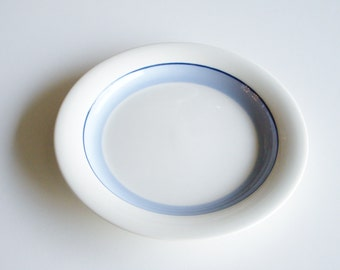 Vintage Arabia Plate, Pudas Artica, Salad Plate, Arabia Finland, Blue Band, Side Plate, Lunch Plate, Small Plate, Finnish Tableware