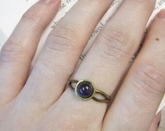 Antique Bronze Amethyst Ring