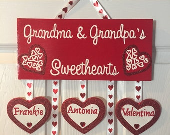 Personalized Grandma and Grandpa's Sweethearts Sign