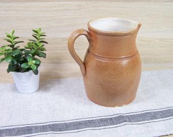 Pitcher or jug sandstone handmade |  Made in France | Tableware France vintage 1970