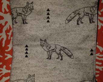 Foxes and triangles cosmetic bag