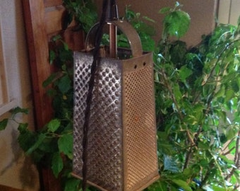Vintage Cheese Grater Pendant Light