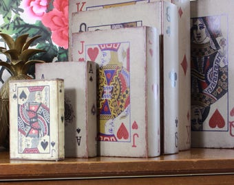 Alice In Wonderland Wedding & Home Decor, Playing Cards, Clubs, Hearts, Queen, Vintage Reproduction, Chest Of Drawers, Toy Box, Key Holders