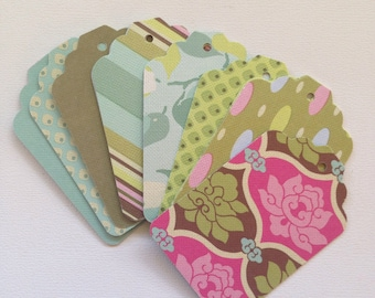 Sola Tags - Set of 14, Amy Butler, Stationary, Gift Tags, Snail Mail