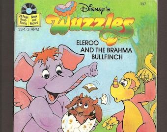 Walt Disney's Wuzzles  Eleroo and the Brahma Bullfish - Vintage 33 1/3 RPM Disneyland Records Book and Record Set #397 c. 1985