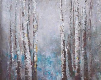 TREES STORIES #1 - original painting 70x50cm