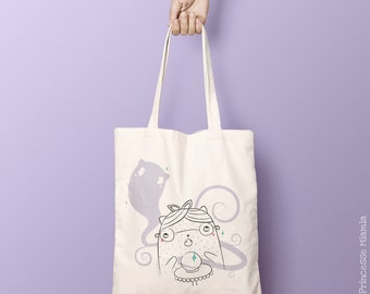 Cotton Tote Bag organic Irma Ouija