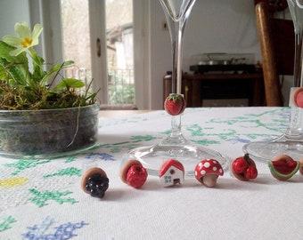Wine charms personalizzati segna calice di vino fatto a mano idea regalo san valentino segnaposto wine glass charm custom thanksgiving nozze
