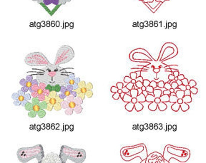 Bunny-Tales ( 14 Machine Embroidery Designs from ATW ) XYZ17C