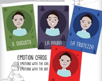 School game cards, emotions game, emotions cards, school and preschool game, learning tool, teaching emotions