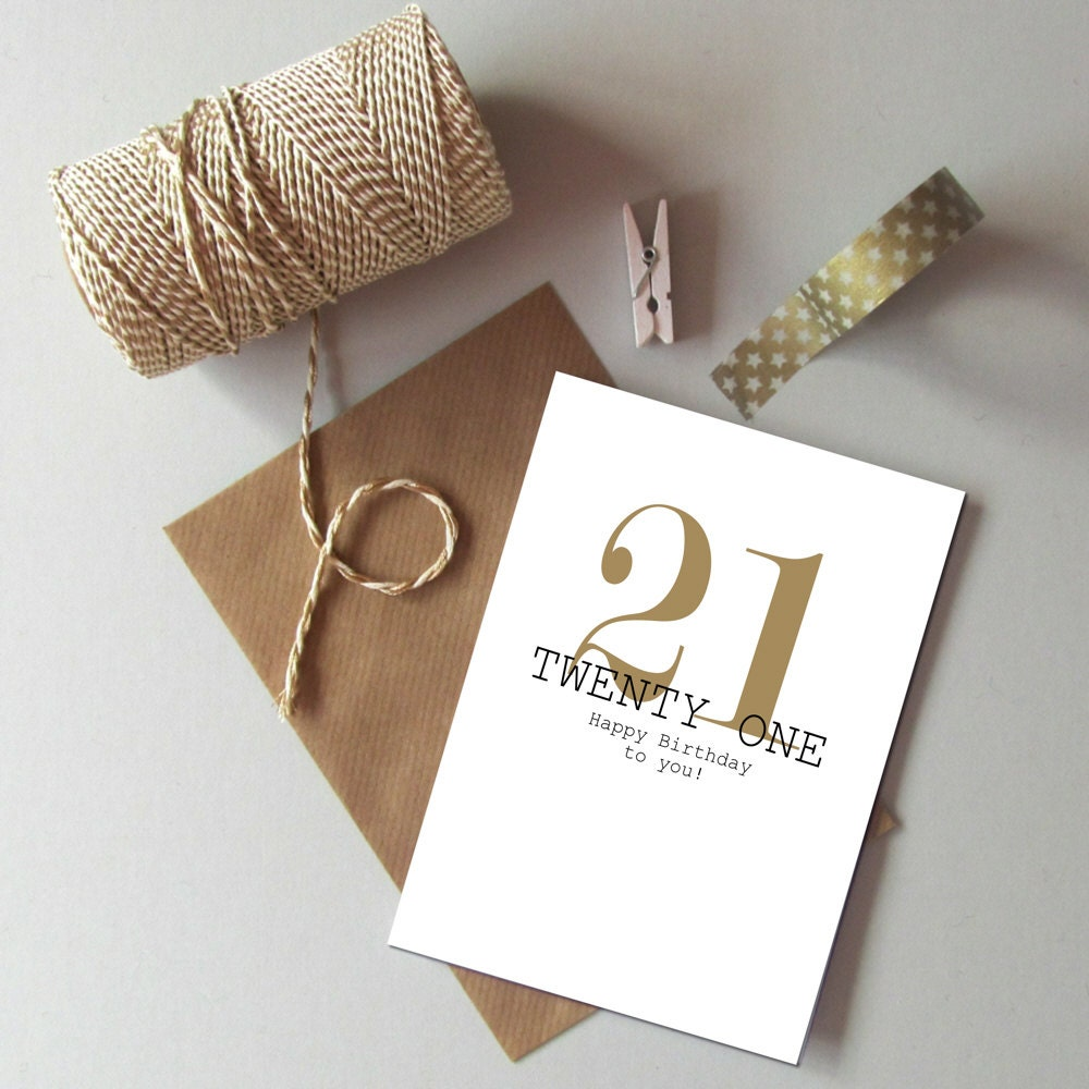 21st birthday card happy 21st birthday twenty first zoom bookmarktalkfo Image collections