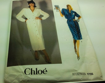 Vogue Chloe Sewing Pattern 1735  Top And Skirt Very Loose Fitting Top Straight Lined Skirt  Size 12 New Uncut FF