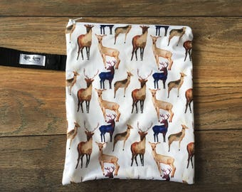 Small Travel Wetbag- Deer