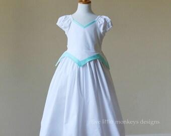 Ariel Dress - Ariel Costume - Little Mermaid Dress - Little Mermaid Costume - Ariel Wedding Dress- Wedding Dress Costume- Ariel White Dress