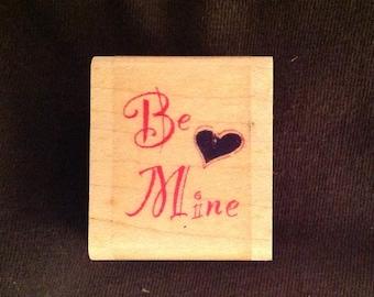 Vintage Be Mine Valentine Stamp From Inkadinkado 0003