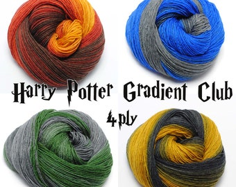 Harry Potter Sock Yarn - Superwash Merino Wool Yarn / Cashmere / Nylon  - Sock Yarn 4ply Knitting Gradient Yarn UK