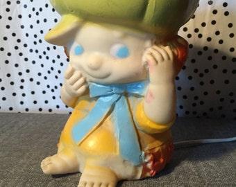 Netta Night Light Childrens Baby room Cabbage Patch style pumpkin head girl