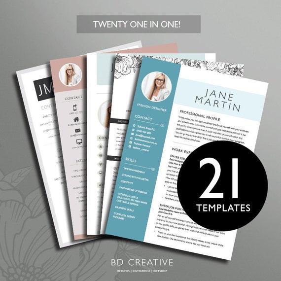 Resume Boutique Template Bundle 21 Creative Resume Templates