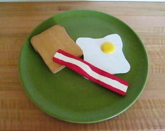 Faire semblant cadeau bois petit déjeuner de l'oeuf, Bacon et Toast/enfant