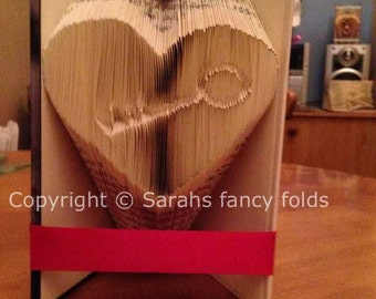 Half Price Sale - Key to my heart - Book Folding PATTERN