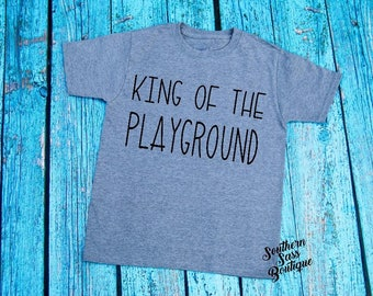 King of the playground tee, Little boys shirt, Boys shirt, Boys onesie, Toddler shirt, Toddler tops, Little boy tees, Cute kids clothing,