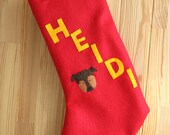 Personalized Dog Christmas Stocking, Unique Cat Stocking, Felt Applique Design Custom Pet Portrait, Unique Gift for Dog Lover or Cat Lover