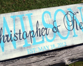Personalized family name sign. Established sign. Family sign. Custom name sign. Custom wood sign. Custom Family sign. Home decor.