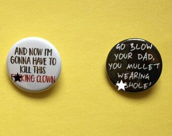 Richie Tozier / Stephen King IT Pinback Button